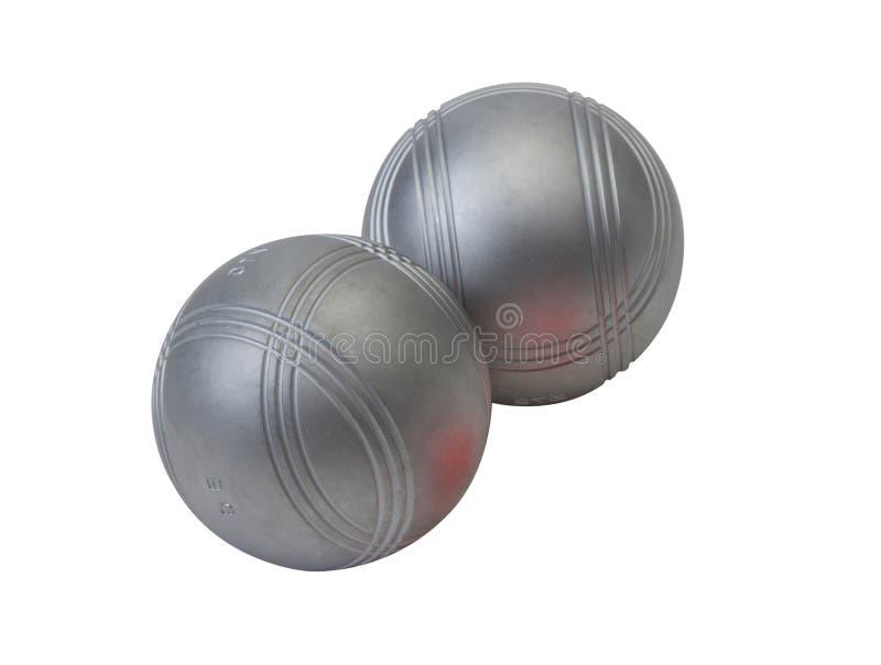 De ballen van Petanque metall stock foto