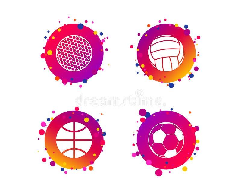 De ballen van de sport Volleyball, Basketbal, Voetbal Vector vector illustratie