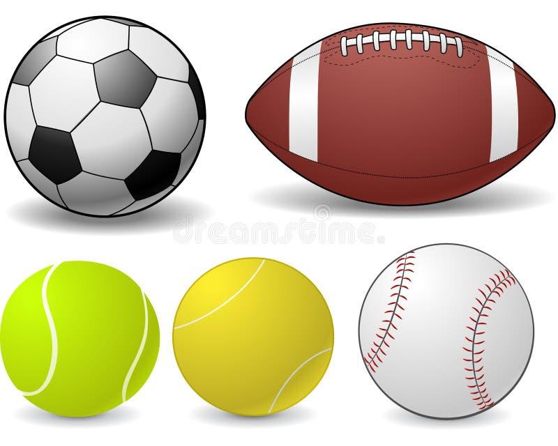 De ballen van sporten royalty-vrije illustratie
