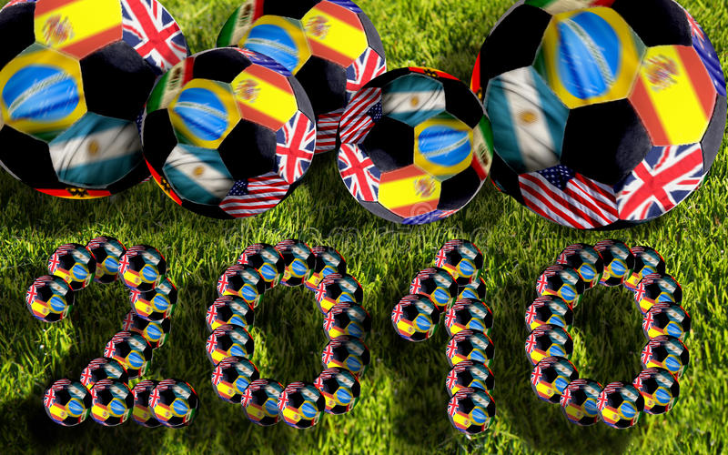 De ballen van voetbal, Zuid-Afrika 2010 royalty-vrije illustratie