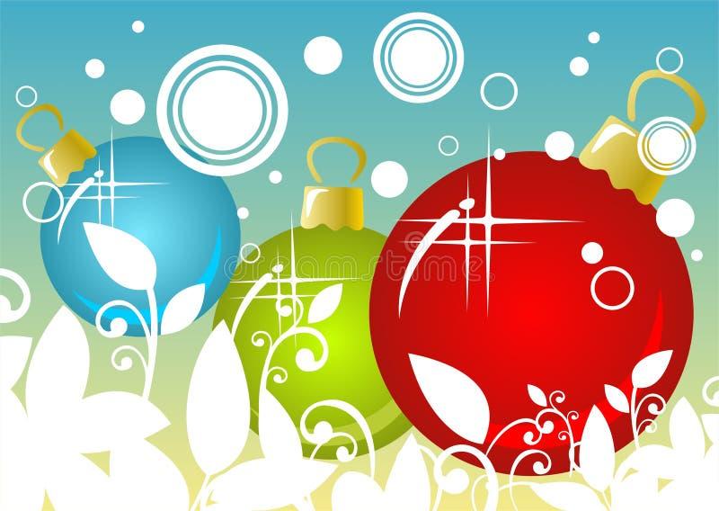 De Ballenachtergrond Van Kerstmis Royalty-vrije Stock Afbeeldingen