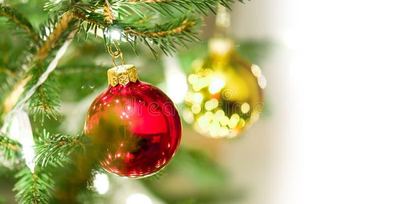 De ballendecoratie van Kerstmis stock foto's