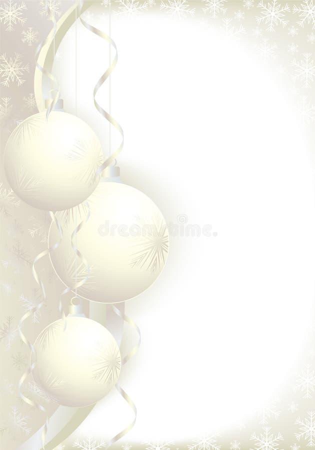 De ballengoud van Kerstmis vector illustratie
