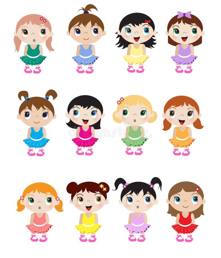 De ballerina's van de baby royalty-vrije illustratie