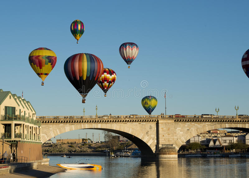 De Ballon Fest van Havasu van het meer royalty-vrije stock foto's