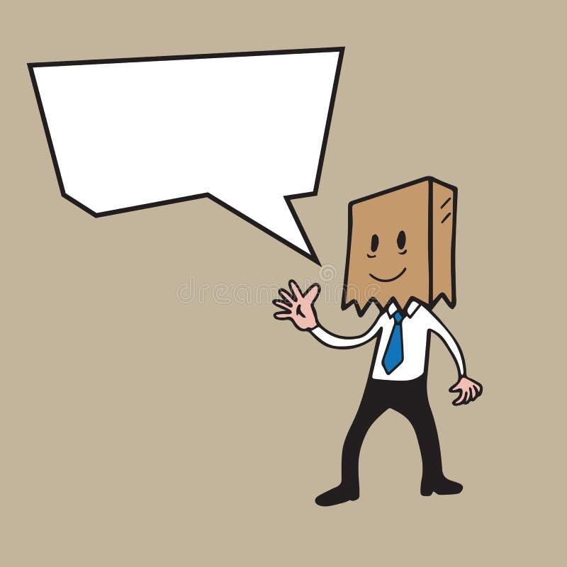 De ballon van de handelsreizigertoespraak vector illustratie