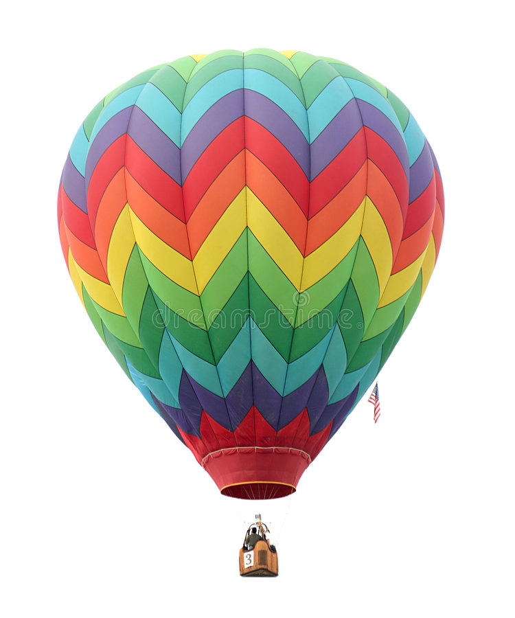 De Ballon van de hete Lucht op Wit