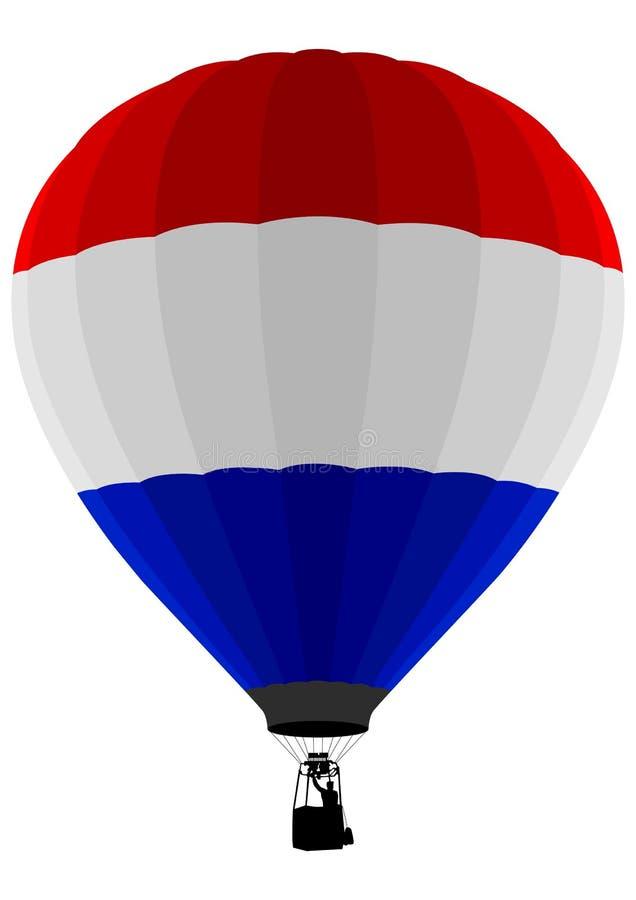 De Ballon van de Lucht van de Vlag van Nederland vector illustratie