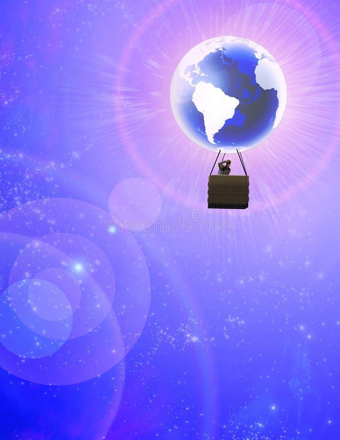 De ballon van de wereld stock illustratie
