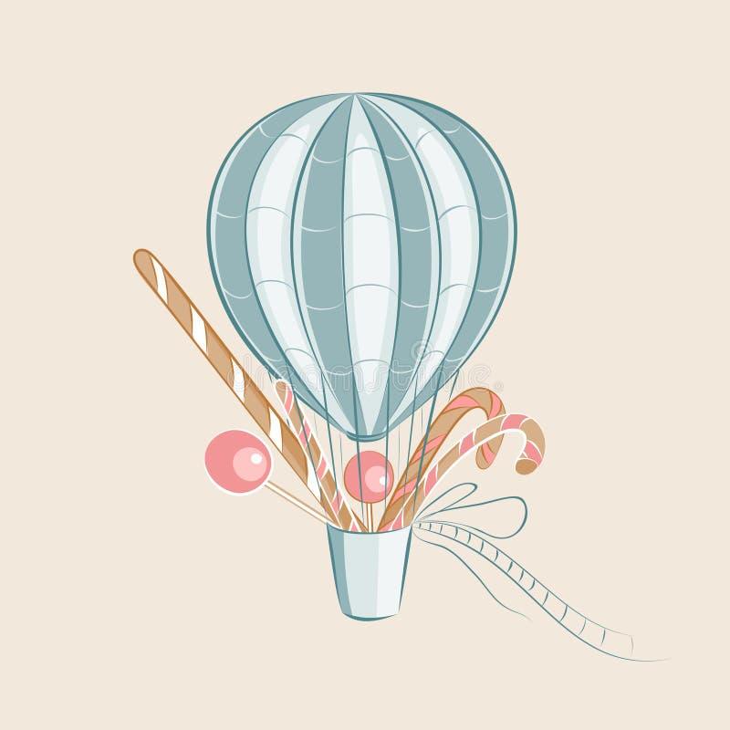 De Ballon van snoepjes vector illustratie