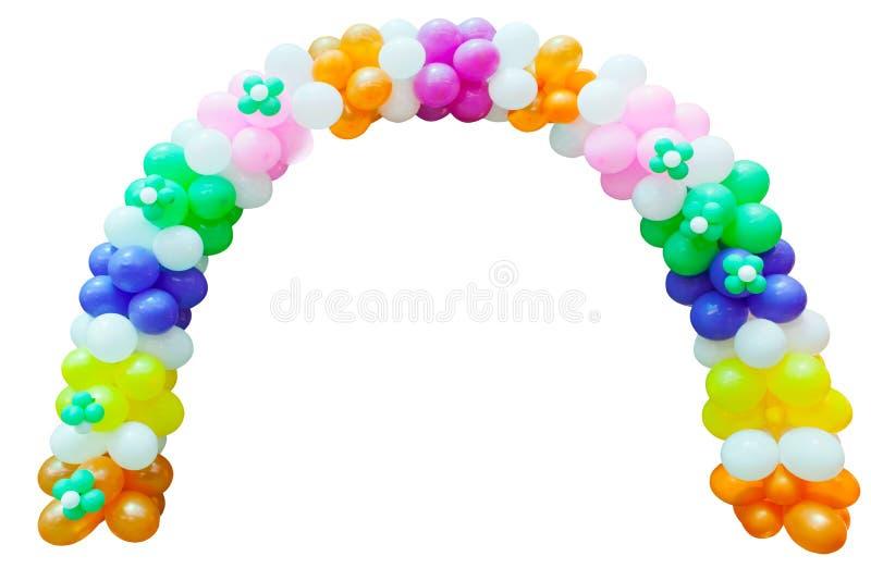 De ballon van viering isoleerde wit royalty-vrije stock afbeelding