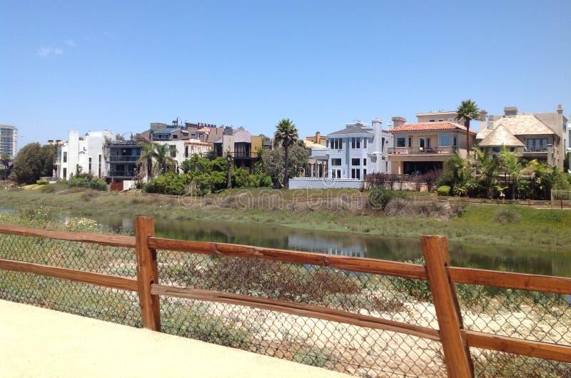 De Ballona-Lagune, Marina del Rey, Los Angeles, Californië royalty-vrije stock afbeeldingen