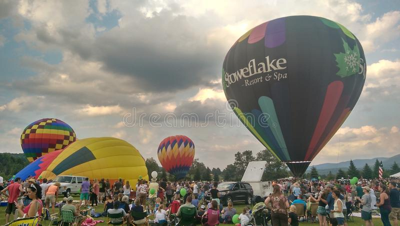 De ballonfestival van de Stowe hete lucht royalty-vrije stock foto's