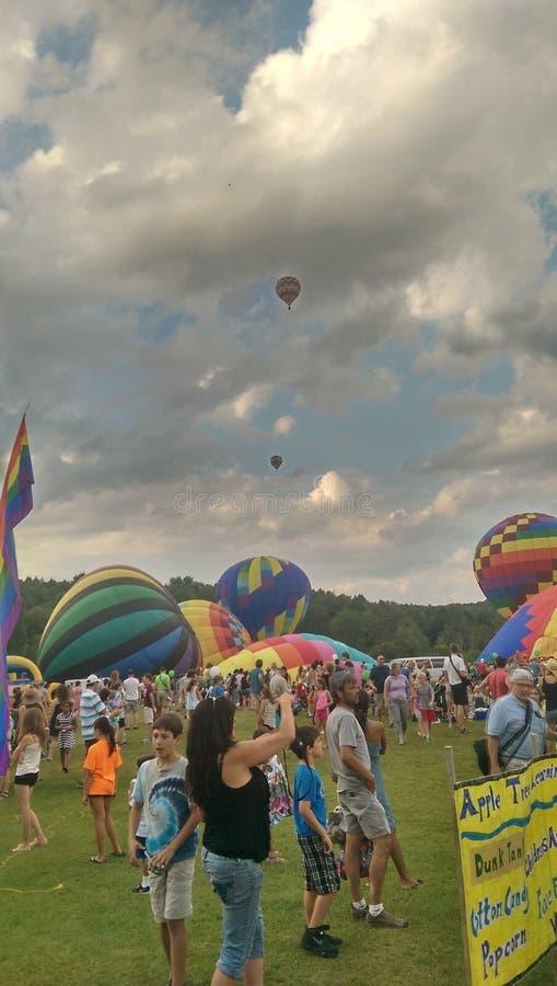 De ballonfestival van de Stowe hete lucht stock foto