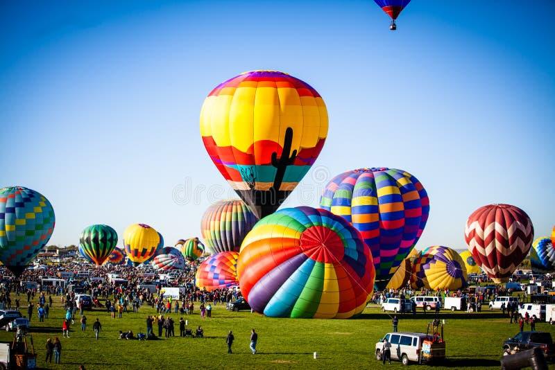 De Ballonfiesta 2018 van Albuquerque stock fotografie
