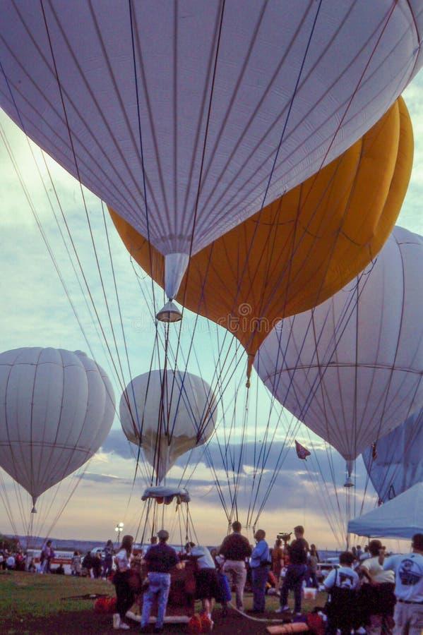 De Ballonras van de gas Hete Lucht royalty-vrije stock afbeelding