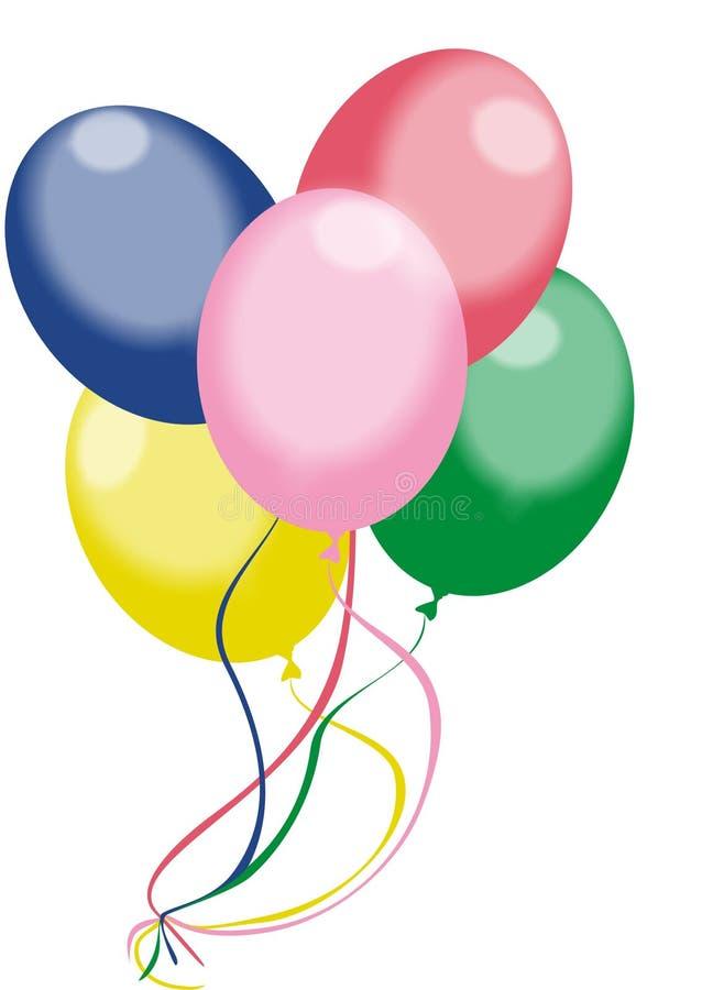 De ballons van de kleur stock illustratie