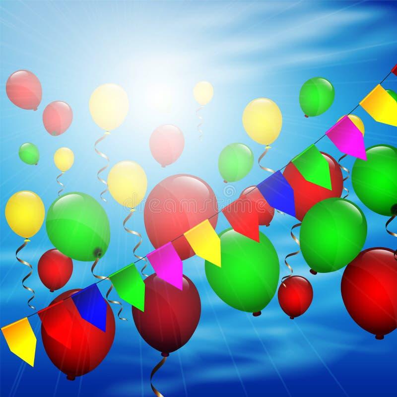 De ballons van de kleur royalty-vrije illustratie