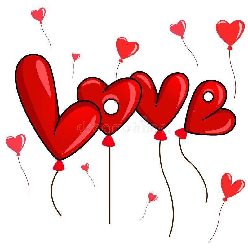 De ballons van de liefde stock illustratie