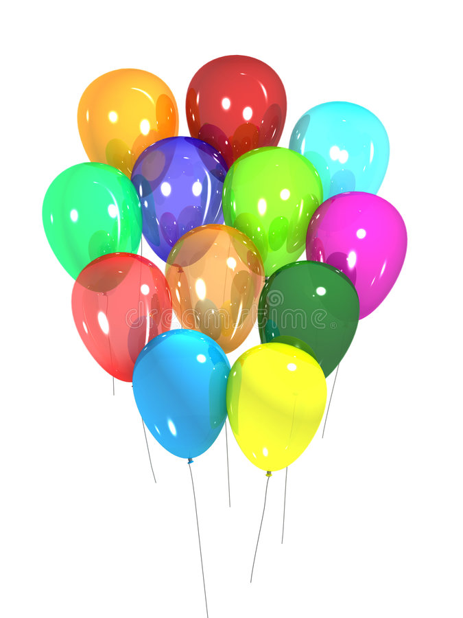 De ballons van de partij royalty-vrije illustratie