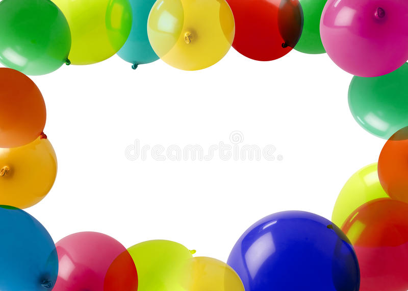 De ballons van de partij in een frame royalty-vrije stock afbeelding
