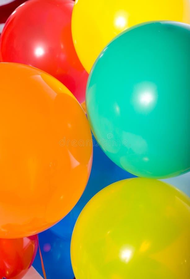 De Ballons van de partij op wit royalty-vrije stock afbeeldingen
