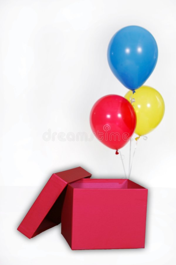 De Ballons van de Partij van de Verjaardag van Solated op Wit stock foto's