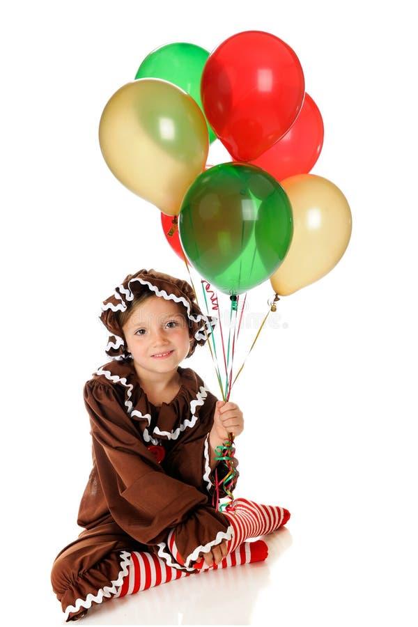 De Ballons van de peperkoek stock afbeelding