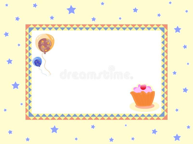 De ballons van de verjaardag stock illustratie