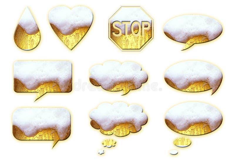 De ballons van het bier stock illustratie