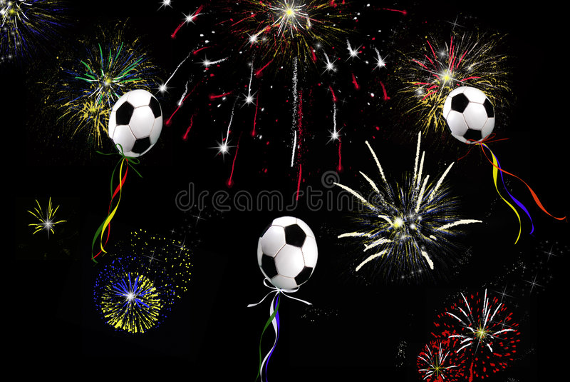 De Ballons van het voetbal stock illustratie