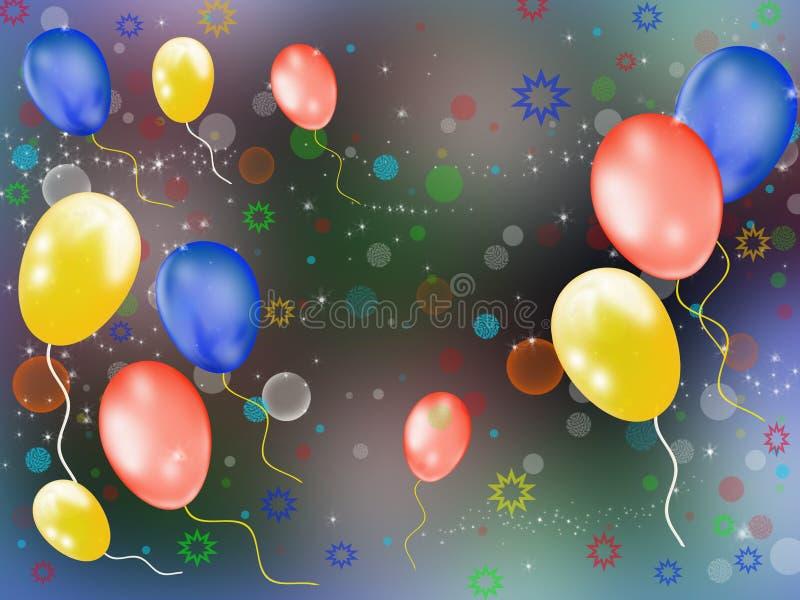 De ballons van de lucht royalty-vrije illustratie