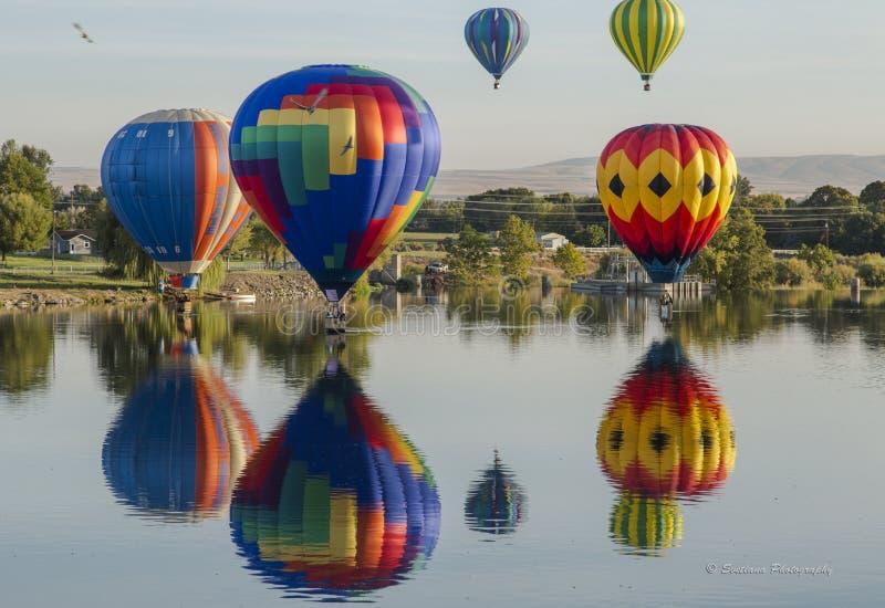De Ballonverzameling van de Prosser Hete Lucht stock foto
