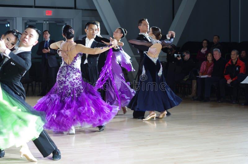 De ballroom dansenconcurrentie stock foto's
