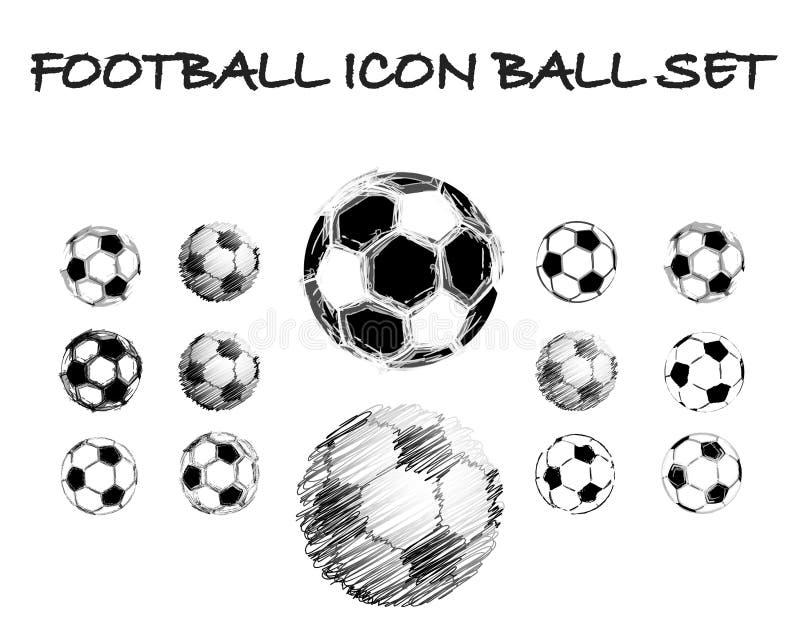 De balreeks van het voetbal grunge vector illustratie