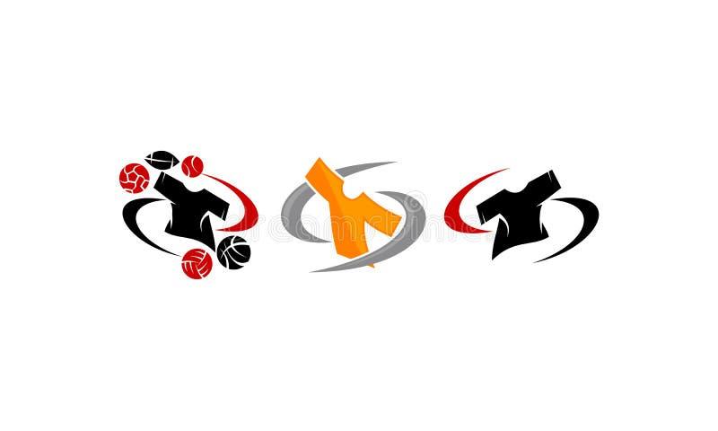 De Balreeks van de t-shirtssport vector illustratie