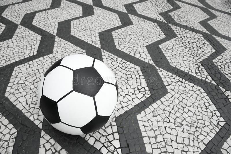 De Balsao Paulo Brazil Sidewalk van het voetbalvoetbal stock afbeelding