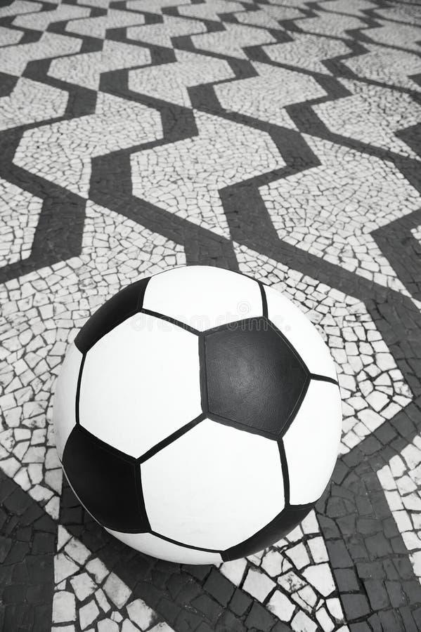 De Balsao Paulo Brazil Sidewalk van het voetbalvoetbal stock foto
