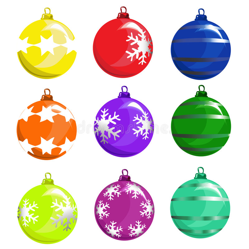De balvector van de kerstboom vector illustratie