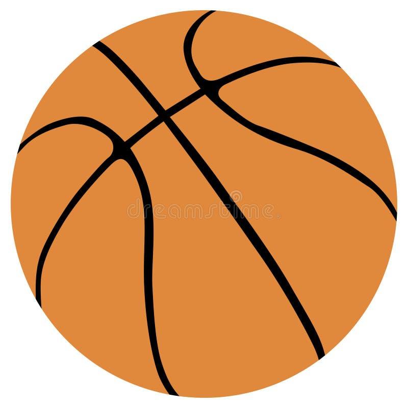 De balvector van het basketbal vector illustratie