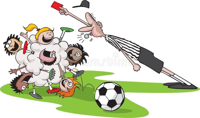 Download De balVoetbal van de bos stock illustratie. Illustratie bestaande uit scheidsrechter - 10781156