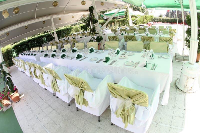 De balzaal van het huwelijk stock foto