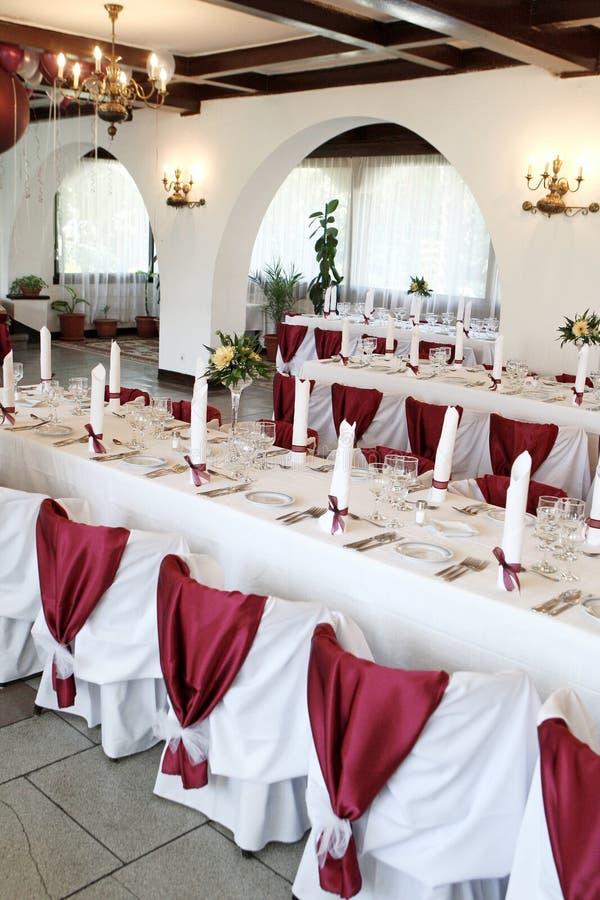 De balzaal van het huwelijk stock afbeeldingen