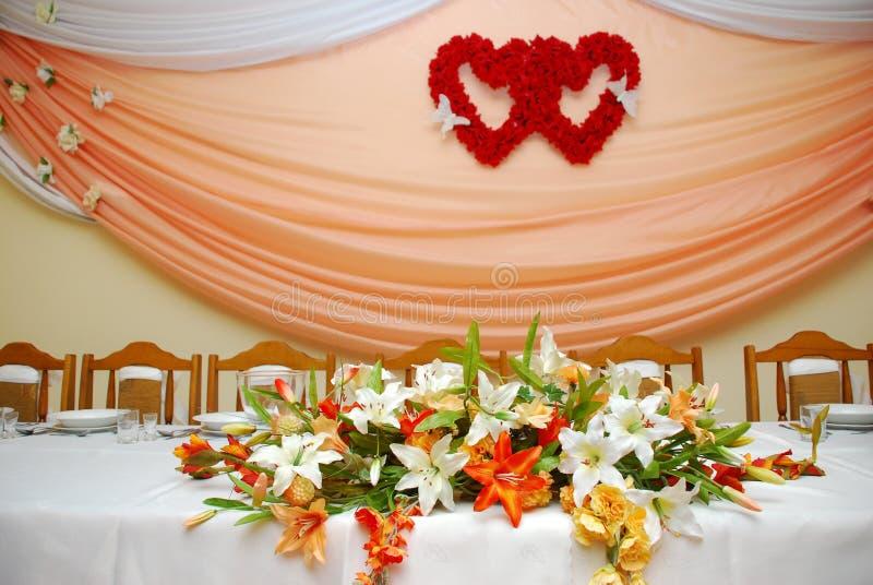 De balzaal van het huwelijk stock afbeelding
