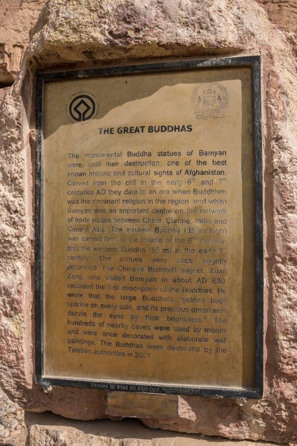 De bamiyan jätte- buddhasna - fotografering för bildbyråer