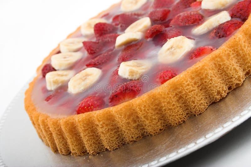 De banaan van de aardbei torte stock afbeelding