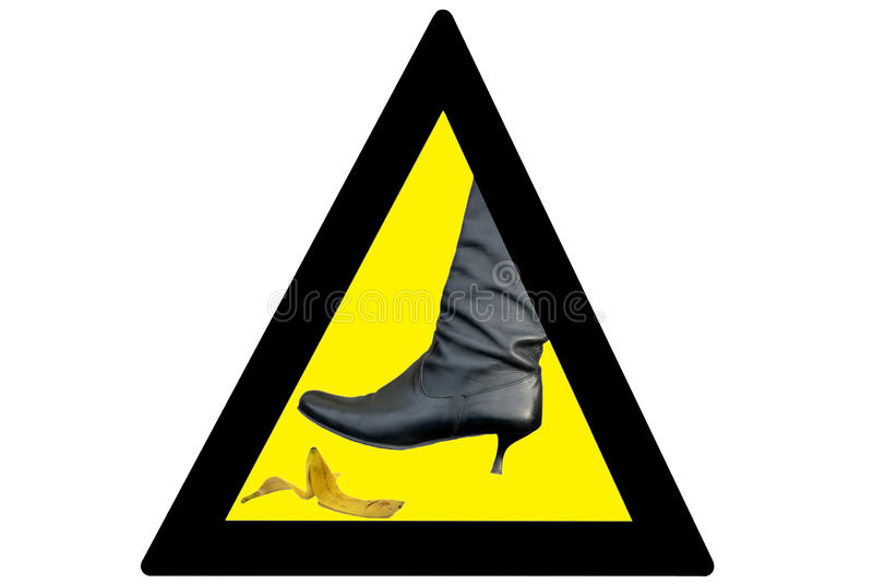 De banaan van het gevaar royalty-vrije stock afbeelding