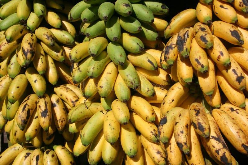 De bananen van de kneuzing royalty-vrije stock afbeeldingen