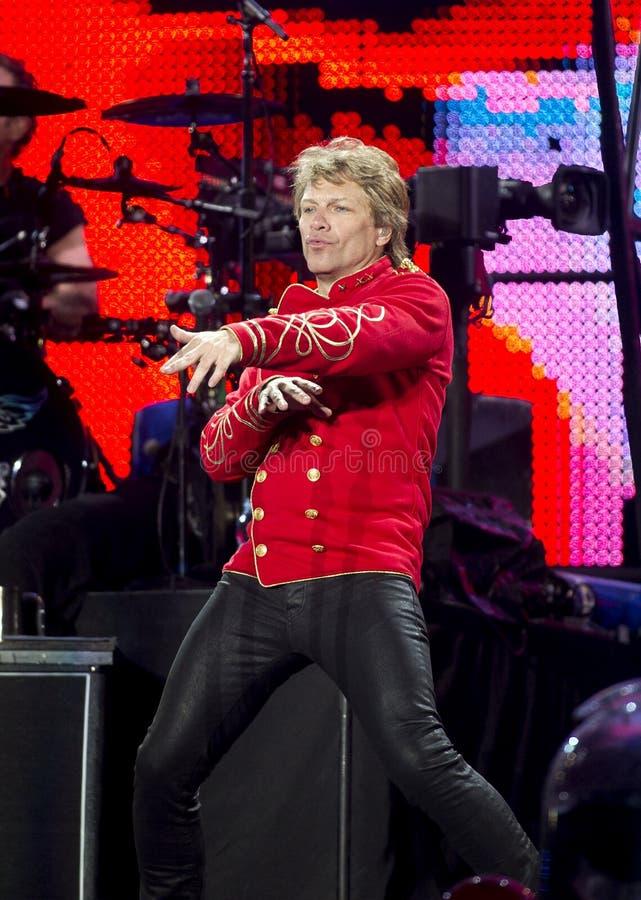 De band Bon Jovi voert een overleg uit royalty-vrije stock afbeelding