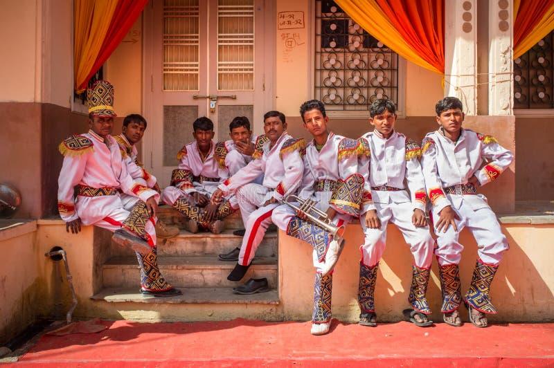 De band van de huwelijksceremonie royalty-vrije stock foto's